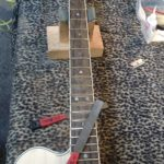 Zyrcote fretboard, working on the frets