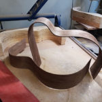 Bending black walnut sides for acoustic guitar