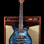 Ice blue black burst, quilted maple