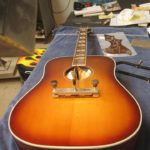 Gibson Hummingbird Reissue, Refinish & Restoration, Bridgework and more