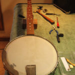 Baldwin, Pete-Seger-esque long-scale-banjo - in for a tune up, repairs, and some TLC