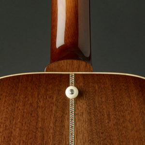 Black Walnut Back with Herringbone Wood Inlay, Ivory Button, Spanish Cedar Neck with Black WAlnut Neck Cap