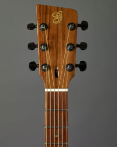 Headstock with Black Walnut Cap, Truss Road Opening