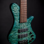 Teal Stain, grain highlighted, Martin Keith Guitars