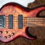 Amber Cherry Burst, Matte. Finish by Gerhards Guitarworks for MTD Custom Basses