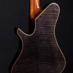 Flame Maple with Smoked Grey Stain + Highlighting. Natural mahogany neck. By Gerhards Guitarworks for Martin Keith Guitars
