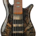 Spalted Natural with Black Stain, Grain Highlighted. Finish by Gerhards Guitarworks for Spector-Korg Bass