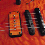 intense orange, grain highlighted, quilted maple with matching pickup cover