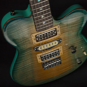 ROCKET 88 Hand Sculpted Flame Maple Top, Honduras Mahogany Solid Body
